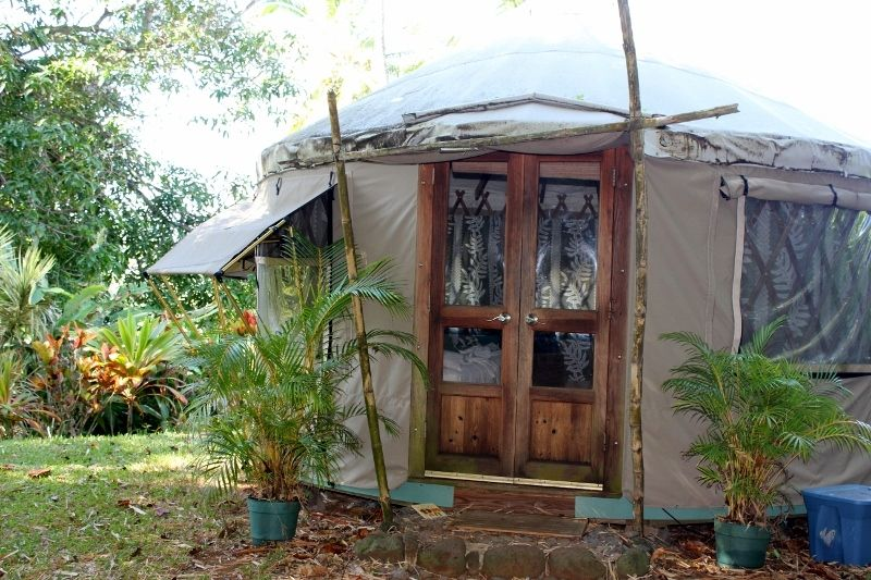 Maui activities Kahana Beach Resort sleep in a Yurt